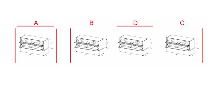 EX10-TF - Lowboard mit Klapptür Textil / Klapptür