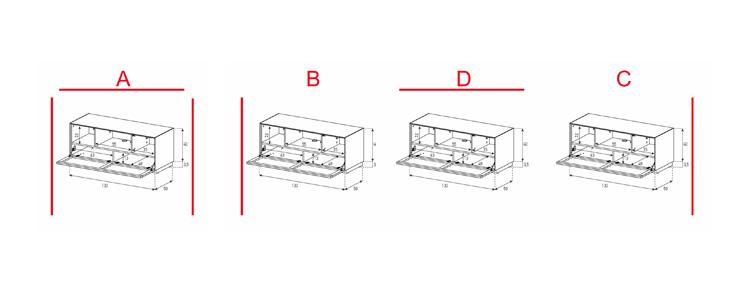 EX12-TC - Lowboard mit Klapptür Textil (Center)