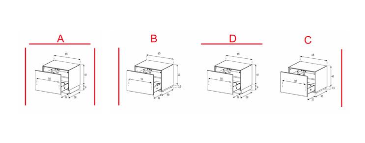 EX20-D - Lowboard mit Schublade
