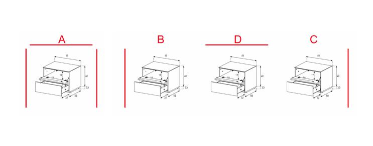 EX20-FD - Lowboard mit Klapptür und Schublade