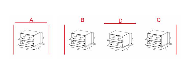 EX20-FF - Lowboard mit Klapptür / Klapptür