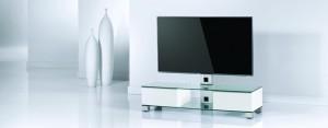 TV-Möbel Holz &  Glas & Metall
