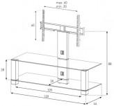 Sonorous TV-Möbel, TV-Racks, TV 50 zoll/inch - Sonorous - PL 2400-C-HBLK