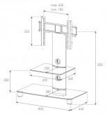 Sonorous TV-Rack, TV 32 inch - Sonorous - NEO 81-C-SLV