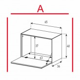 Lowboard Sonorous Elements ED50-F-A - TV-Möbel mit Klapp-Tür / kombinierbar