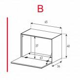 Lowboard Sonorous Elements ED50-F-B - TV-Möbel mit Klapp-Tür / kombinierbar