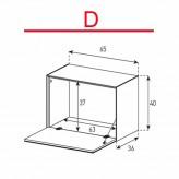 Lowboard Sonorous Elements ED50-F-D - TV-Möbel mit Klapp-Tür / kombinierbar