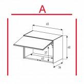 Lowboard Sonorous Elements ED50-U-A - TV-Möbel mit Klapp-Tür (nach oben) / kombinierbar