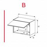 Lowboard Sonorous Elements ED50-U-B - TV-Möbel mit Klapp-Tür (nach oben) / kombinierbar