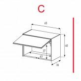 Lowboard Sonorous Elements ED50-U-C - TV-Möbel mit Klapp-Tür (nach oben) / kombinierbar