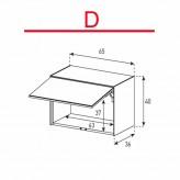 Lowboard Sonorous Elements ED50-U-D - TV-Möbel mit Klapp-Tür (nach oben) / kombinierbar
