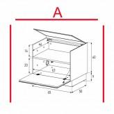 Lowboard Sonorous Elements ER01-F-A - TV-Möbel mit Klapp-Tür / kombinierbar