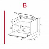 Lowboard Sonorous Elements ER01-F-B - TV-Möbel mit Klapp-Tür / kombinierbar