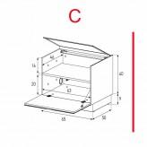 Lowboard Sonorous Elements ER01-F-C - TV-Möbel mit Klapp-Tür / kombinierbar