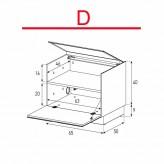 Lowboard Sonorous Elements ER01-F-D - TV-Möbel mit Klapp-Tür / kombinierbar