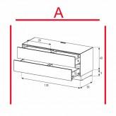 Lowboard Sonorous Elements EX10-DD-A - TV-Möbel mit 2 Schubladen / kombinierbar