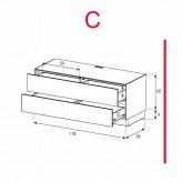 Lowboard Sonorous Elements EX10-DD-C - TV-Möbel mit 2 Schubladen / kombinierbar