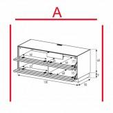 Des éléments Sonorous Lowboard EX10-TT-A / TV-armoires avec décor en bois Amazone et 2 tissu pliage porte / combiné