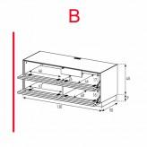 Des éléments Sonorous Lowboard EX10-TT-B / TV-armoires avec décor en bois Amazone et 2 tissu pliage porte / combiné