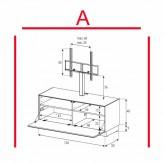 Lowboard Sonorous Elements EX11-F-A - TV-Möbel mit Klapp-Tür mit TV-Halterung / kombinierbar