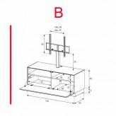 Lowboard Sonorous Elements EX11-F-B - TV-Möbel mit Klapp-Tür mit TV-Halterung / kombinierbar