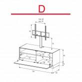 Lowboard Sonorous Elements EX11-F-D - TV-Möbel mit Klapp-Tür mit TV-Halterung / kombinierbar