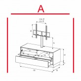 Lowboard Sonorous Elements EX11-FD-A - TV-Möbel mit Klapp-Tür und Schublade mit TV-Halterung / kombinierbar