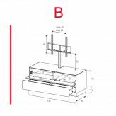Lowboard Sonorous Elements EX11-FD-B - TV-Möbel mit Klapp-Tür und Schublade mit TV-Halterung / kombinierbar