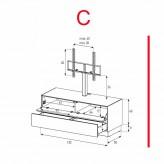 Lowboard Sonorous Elements EX11-FD-C - TV-Möbel mit Klapp-Tür und Schublade mit TV-Halterung / kombinierbar