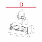 Lowboard Sonorous Elements EX11-FD-D - TV-Möbel mit Klapp-Tür und Schublade mit TV-Halterung / kombinierbar