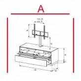 Lowboard Sonorous Elements EX11-TD-A - TV-Möbel mit stoffbezogener Klapp-Tür und Schublade mit TV-Halterung / kombinierbar