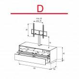 Lowboard Sonorous Elements EX11-TD-D - TV-Möbel mit stoffbezogener Klapp-Tür und Schublade mit TV-Halterung / kombinierbar