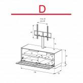 Lowboard Sonorous Elements EX11-TS-D - TV-Möbel mit stoffbezogener Klapp-Tür mit TV-Halterung / kombinierbar