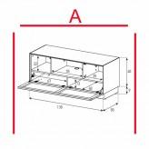 Lowboard Sonorous Elements EX12-TC-A - TV-Möbel mit stoffbezogener Klapp-Tür / kombinierbar