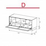 Lowboard Sonorous Elements EX12-TC-D - TV-Möbel mit stoffbezogener Klapp-Tür / kombinierbar