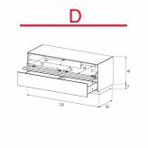 Lowboard Sonorous Elements EX12-TD-D - TV-Möbel mit stoffbezogener Klapp-Tür und Schublade / kombinierbar