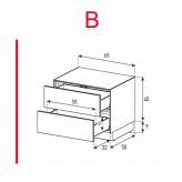 Lowboard Sonorous Elements EX20-DD-B - TV-Möbel mit 2 Schubladen / kombinierbar