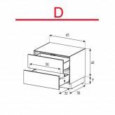 Lowboard Sonorous Elements EX20-DD-D - TV-Möbel mit 2 Schubladen / kombinierbar