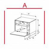 Lowboard Sonorous Elements EX20-F-A - TV-Möbel mit Klapp-Tür / kombinierbar