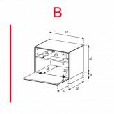 Lowboard Sonorous Elements EX20-F-B - TV-Möbel mit Klapp-Tür / kombinierbar
