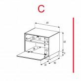 Lowboard Sonorous Elements EX20-F-C - TV-Möbel mit Klapp-Tür / kombinierbar