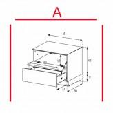 Lowboard Sonorous Elements EX20-FD-A - TV-Möbel mit Klapp-Tür und Schublade / kombinierbar