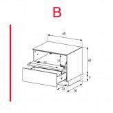 Lowboard Sonorous Elements EX20-FD-B - TV-Möbel mit Klapp-Tür und Schublade / kombinierbar