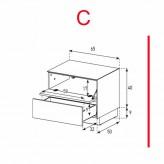 Lowboard Sonorous Elements EX20-FD-C - TV-Möbel mit Klapp-Tür und Schublade / kombinierbar