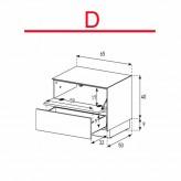 Lowboard Sonorous Elements EX20-FD-D - TV-Möbel mit Klapp-Tür und Schublade / kombinierbar