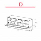 Lowboard Sonorous Elements EX32-TS-D - TV-Möbel mit stoffbezogener Klapp-Tür / kombinierbar